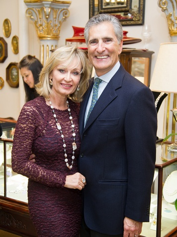 2 Cathy and Giorgio Borlenghi at the Mrs. B Jewelry Launch at Valobra November 2013