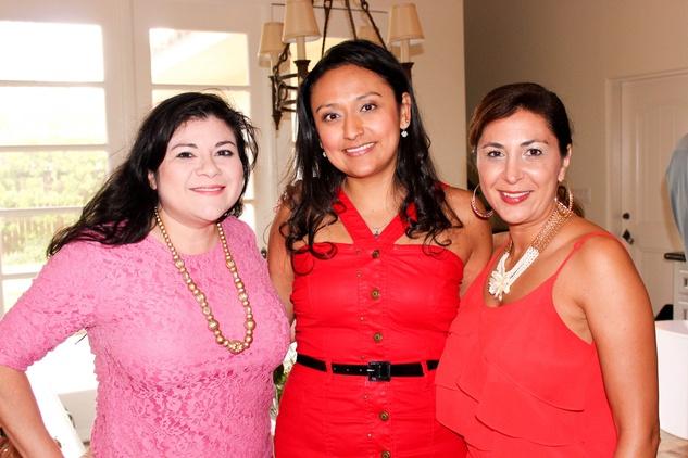 Catarina Gonzalez, from left, Jessica Michan and Deborah Elias at the Bridal Brunch September 2014