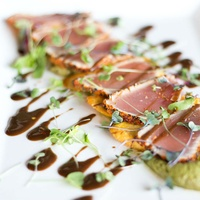 Sundown at Granada Dallas restaurant seared tuna