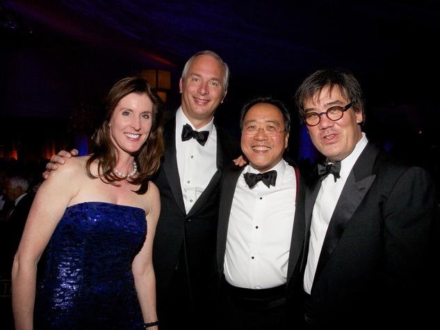16 Phoebe and Bobby, from left, with Yo-yo Ma and Alan Gilbert at the New York Philharmonic Opening Night October 2013