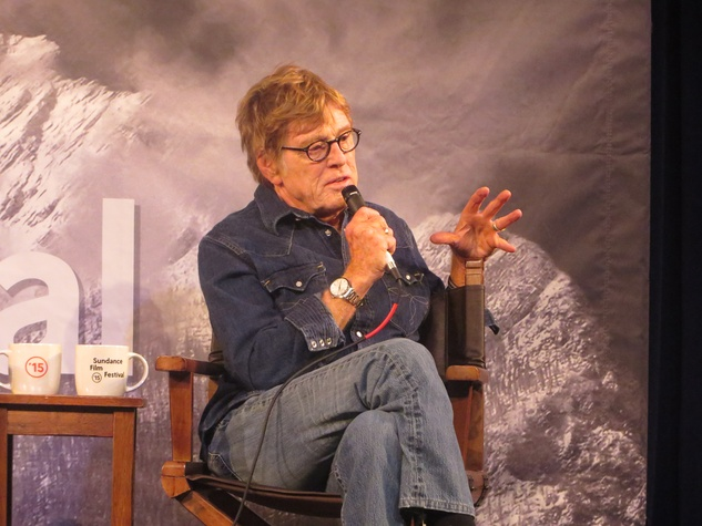 Robert Redford at press conference at Sundance Film Festival January 2015