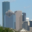 Houston skyline with buildings day
