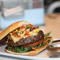 Marene, Rodeo Time, Eat Up, February 2013, Texas Caviar Burger-Rodeo