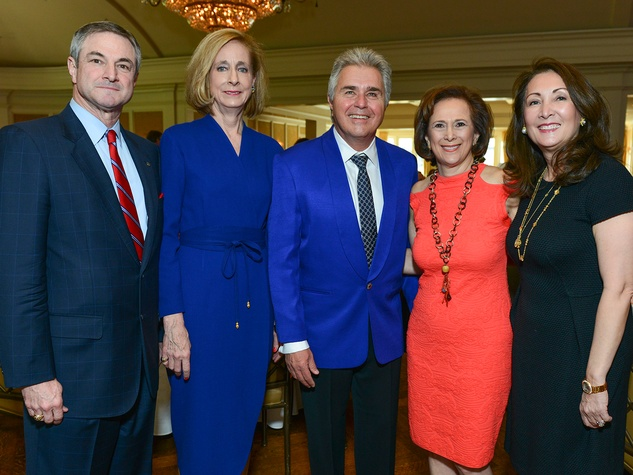 David Lepori, from left, Mimi Parsons, Steve Tyrell, Franelle Rogers and Penny Loyd at the On the Move luncheon March 2014