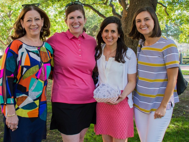 Texas Scottish Rite Hospital for Children Vice President  of  Development  Stephanie Brigger  and Texas Scottish Rite Hospital for Children Staff  Meg Boyd ,  Taylor Fisher  and  Paige McWay