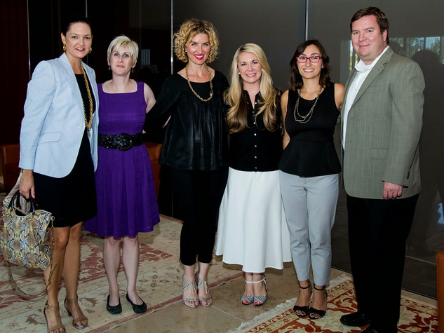 Lisa Pounds, from left, Nicole Longnecker, Rebecca Lowe, Misti Pace-Krahl, Brooke Behrens and Andrew Pyrih at the Aga Khan Foundation Emmisary awards reception September 2014