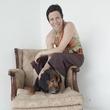 Jane Weiner, Hope Stone, chair, dog