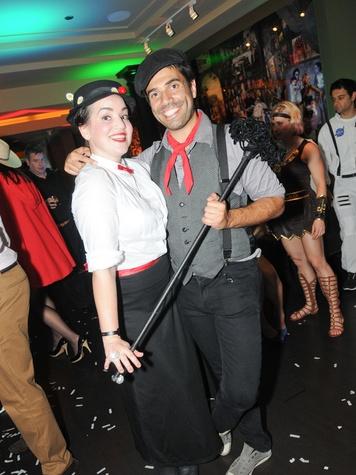 9 Natalie and Vincent Jayawardene at Hotel ZaZa's Halloween party October 2013