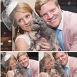 Danielle and Justin Foley wedding photo with crazy cat