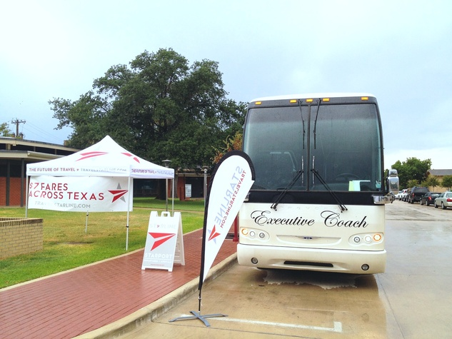 Starline bus service to football games bus September 2013
