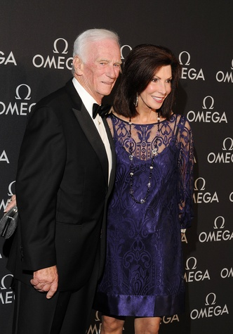 Omega Celebrates the 45th Anniversary of Apollo 13 Mission, May 2015, Astronaut Gene Cernan and Jan Cernan