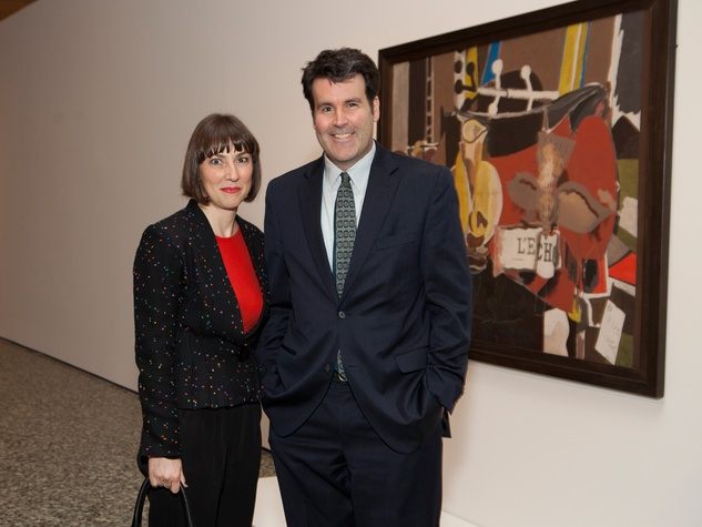 12 Sylvie Christophe and Toby Kamps at the MFAH Georges Braque opening reception February 2014