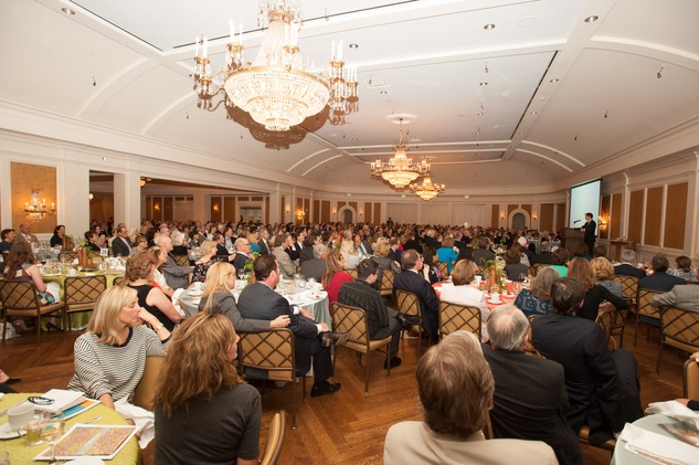 The crowd and venue at the Jung Center Spring Benefit April 2015