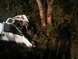 South Texas, pickup truck, crash