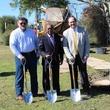 Apache tree planting, Memorial Park, Jan. 2016, Obie O'Brien, Sylvester Turner, John J. Christmann IV