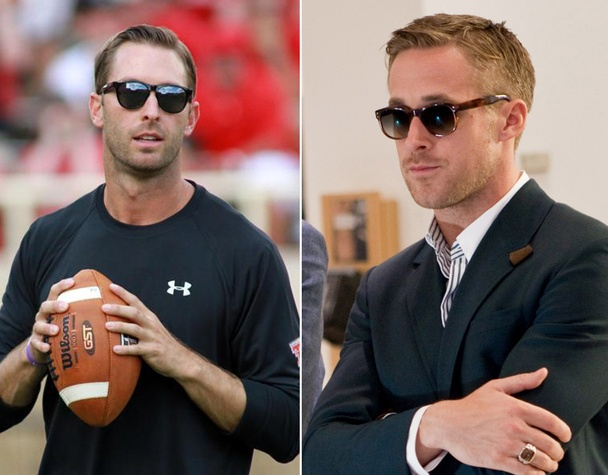 Kliff Kingsbury and Ryan Gosling together