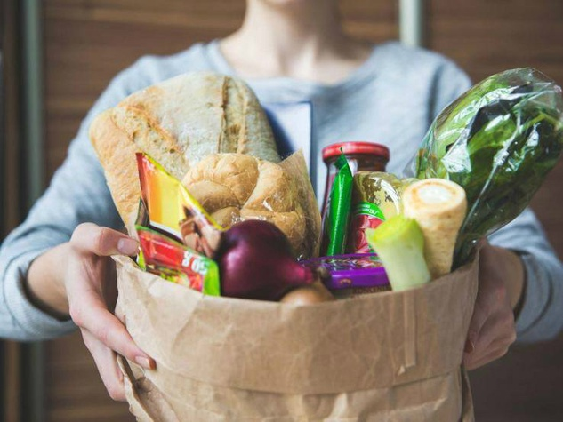 Instacart groceries in a bag for delivery