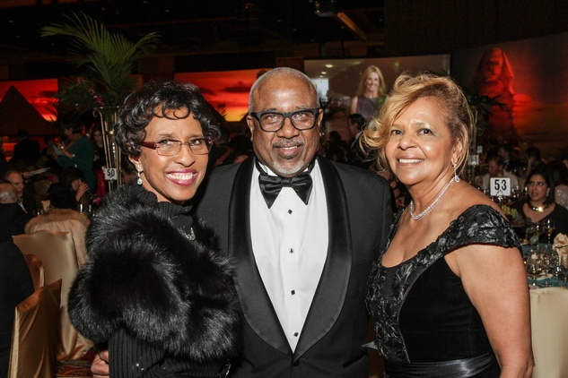 Sharon and Doug Owens, left, with Yvonne Cormier at the Winter Ball January 2015