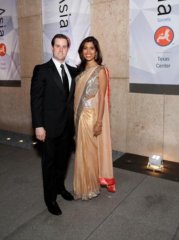 413 Chris and Divya Brown at Tiger Ball March 2014