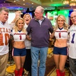 357 Larry Neuhaus, from left, left, Dr. Bob Zeller and Dr. Paul Gerson with Texans cheerleaders at the Camp For All Super Ball February 2015