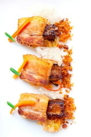 Niman ranch pork belly at belly amp trumpet restaurant in dallas
