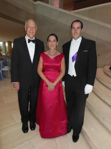 Larry Stuart, Venise Stuart and Honor Guard son Marc, DSOL Presentation Ball