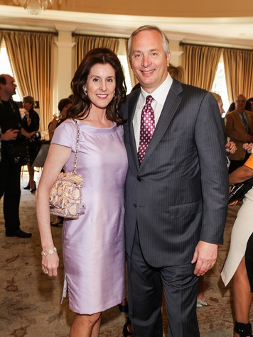 Phoebe and Bobby Tudor at the Passion for Fashion luncheon March 2014