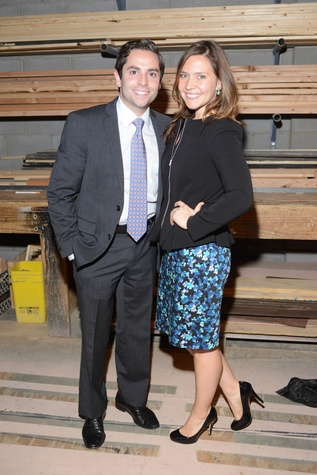 21 Marc Eichenbaum and Amanda Zimmerman at the Alley Theatre Young Professional Event - Dracula October 2014