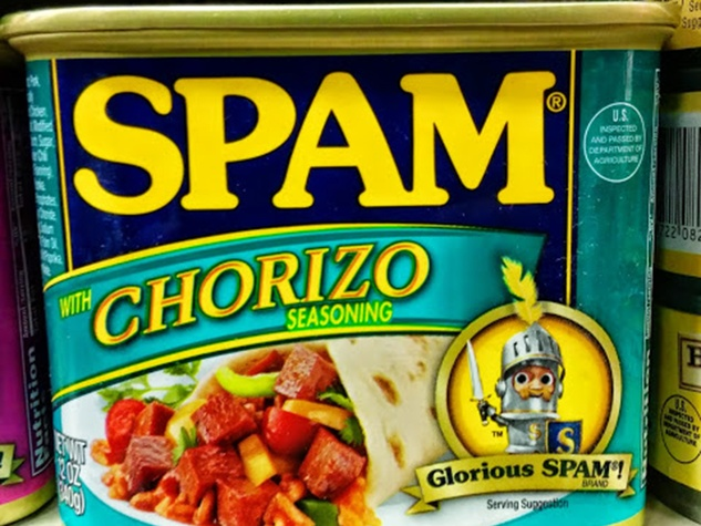 Spam with chorizo seasonings