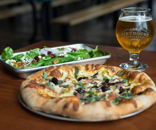 Pinthouse Pizza beer salad
