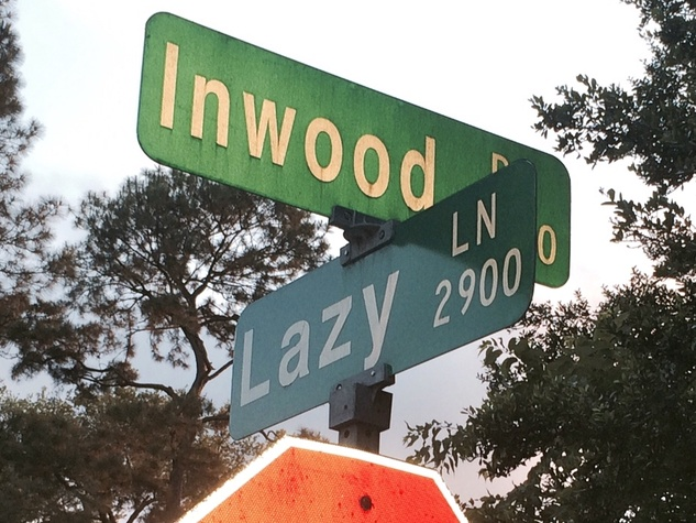 Lazy Lane sign