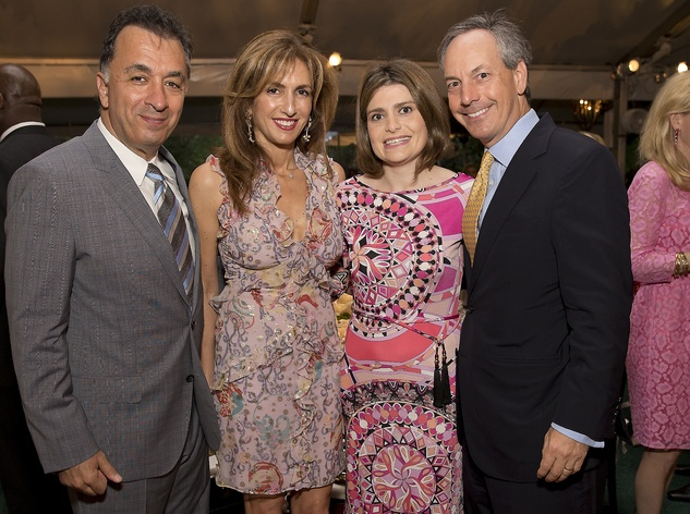 Masoud and Sima Ladjevardian, from left, and Mitra Mujica-Margolis and Michael Margolis at the Bayou Bend Garden Party March 2015