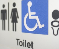 public toilet sign bathroom