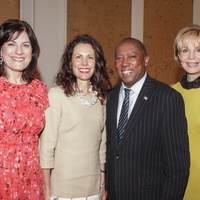 Mayor's Literacy breakfast 5/16 Ellie Francisco, Gina Luna, Mayor Sylvester Turner, Leisa Holland Nelson