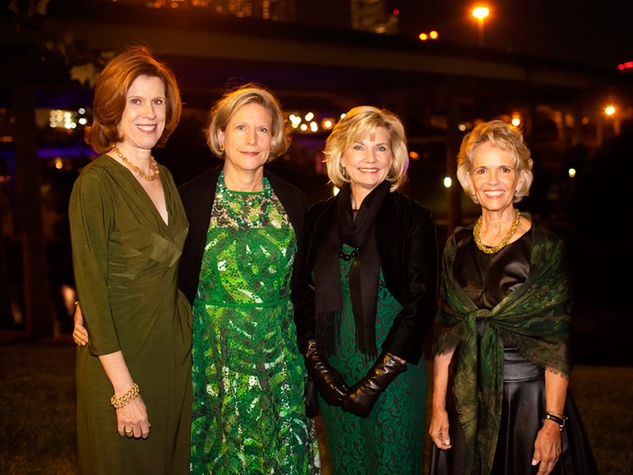 5 Susan Peterson, from left, Kelty Crain, Verlinde Doubleday and Sue White at the Buffalo Bayou Partnership's Green and Growing Gala November 2013