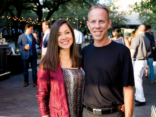Houston, SportsMap launch party, October 2017, Anna Navaro, Charlie Pallilo