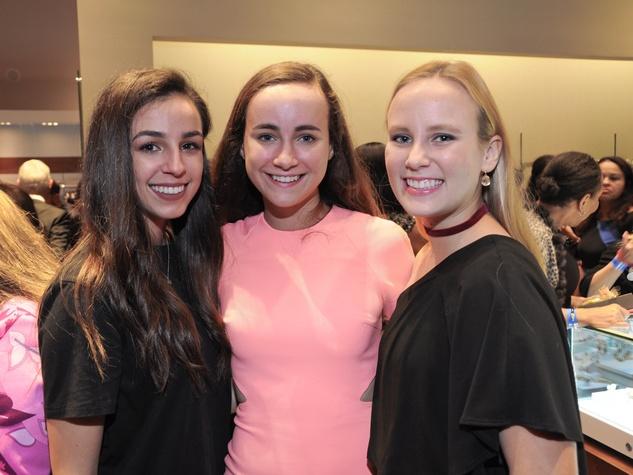 Meghan Owens, Olivia Reasoner, Cara Wolff at Christian Siriano show at Elizabeth Anthony