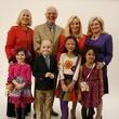40 Mia Lutz, from left, Elsie Eckert, Peter Evans, Scott Basinger, Avaya Hernandez, Judi McGee Hannah Rylance and Sidney Faust at the Texas Children's Hospital Celebration of Champions luncheon October 2014