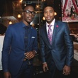 Philip Adesulu, left, and Antwaun Molden at the Page Parkes & Ruggles Black Holiday Soiree December 2014