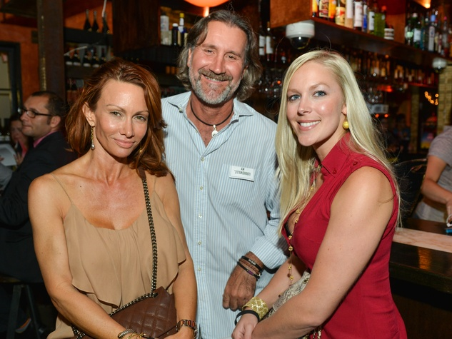 16 Julie Pratz, from left, Steve Cronan and Jenny Price at the CultureMap Social at Boheme September 2014