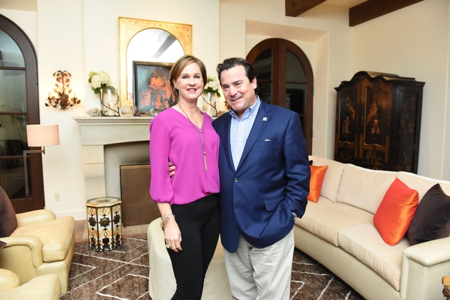 Houston, JDRF Promise Ball kick off party, January 2016, Andrea and Michael Soper.