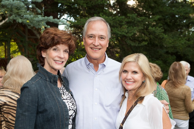 Mary and Will Williams, from left, with Susan Nutt at M.D. Anderson in Aspen July 2014