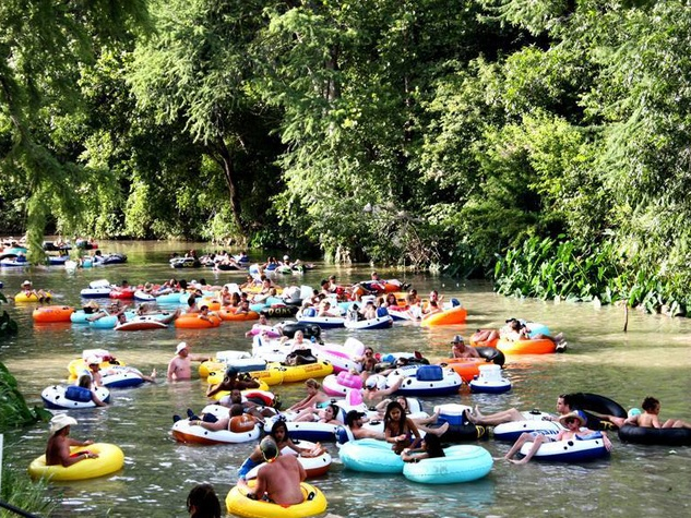 Cool River Ranch San Marcos River floating tubing