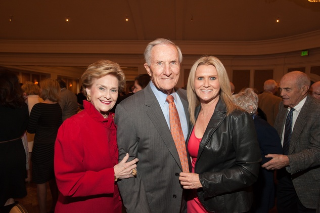 1 Annette and George Strake, left, with Chaille Strake at the HARC Luncheon March 2015