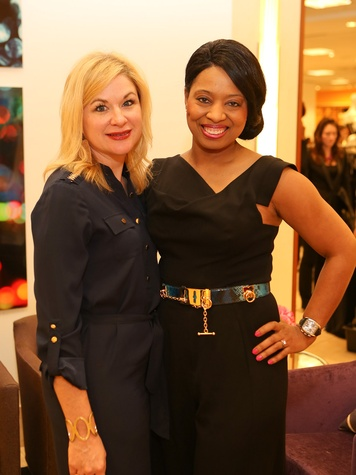 2 Aelicia Bayliss, left, and Shawntell McWilliams at Saks' Key to the Cure October 2013