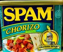 Spam with chorizo seasonings