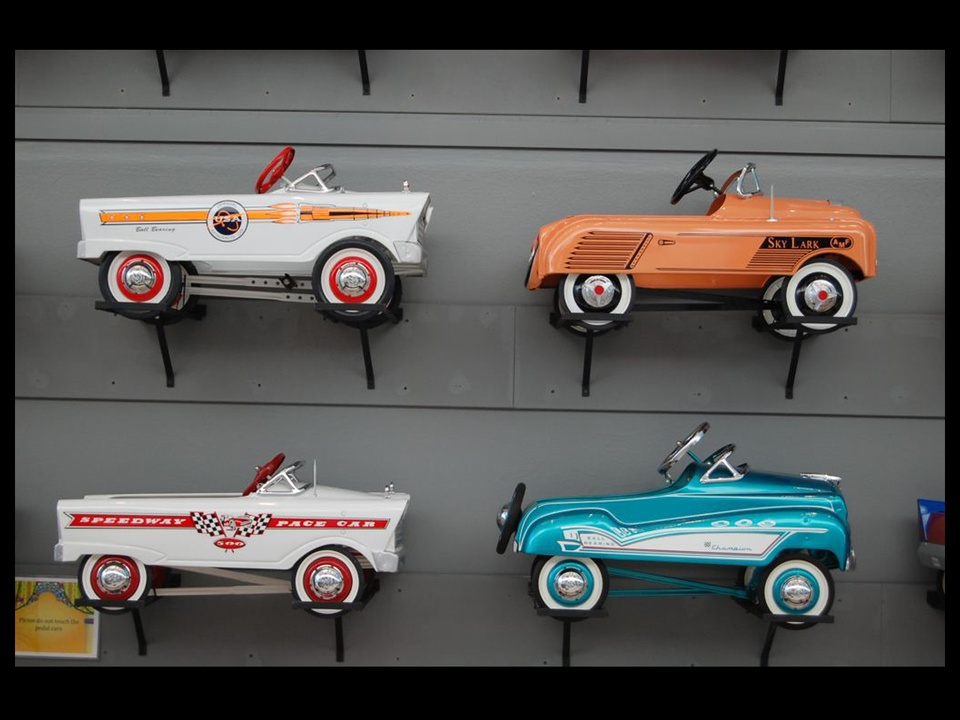 356, Children's Museum of Houston, vintage pedal car exhibit, November 2012, BLACK SPACE