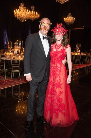 News, Shelby, Houston Ballet Ball, masks, Phoebe Tudor, Bobby Tudor, February 2015