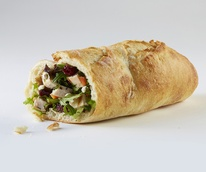 Wrap sandwich at Bread Zeppelin restaurant in Irving