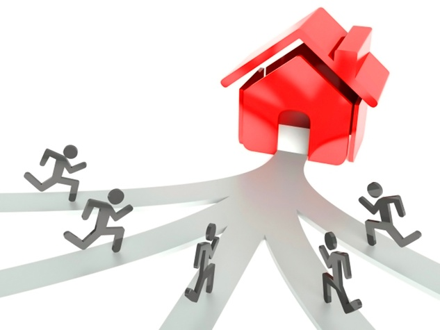 housing demand graphic people running to house low house inventory